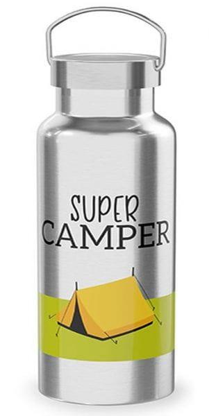 Edelstahl Thermosflasche 500ml Super Camper Isolierflasche Trinkflasche