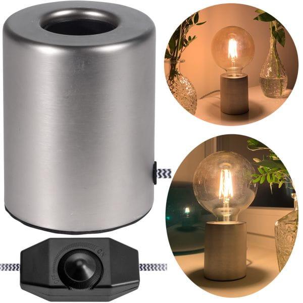 Tischlampe 24cm Tischleuchte Schreibtischleuchte Nachttischlampe
