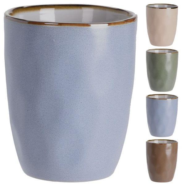 Vintage Kaffeebecher 4´er Set 260ml Keramik Trinkbecher Kaffeetasse