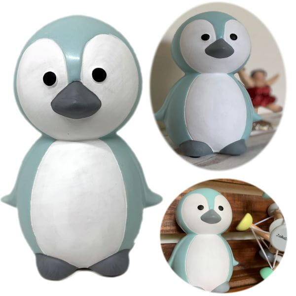 JaBaDaBaDo Keramik Sparschwein Pinguin Blau Weiß 16cm Spardose G10040