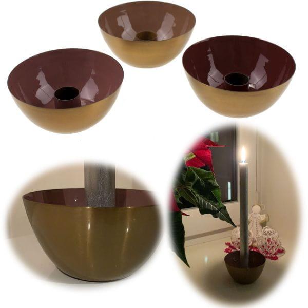 3x Kerzenständer Gold Metall Kerzenhalter Kerzenleuchter Stabkerzen