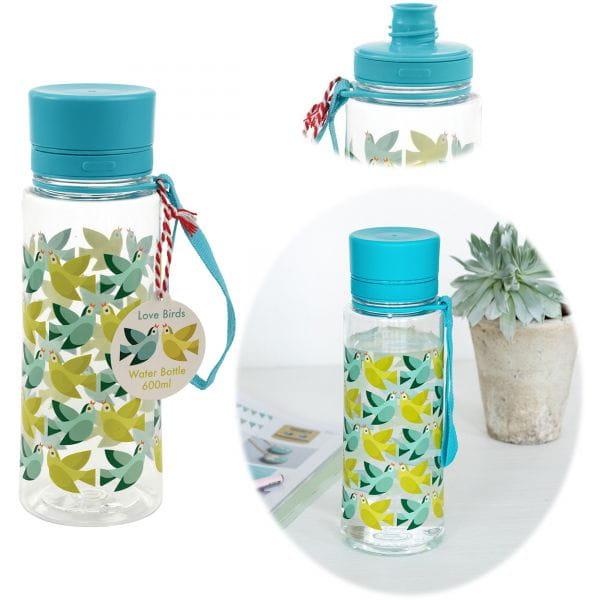 Kinder Trinkflasche Wasserflasche Love Birds 600ml Kunststoff BPA-frei