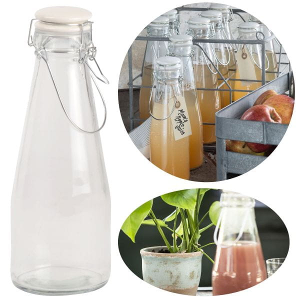 Nostalgie Wasserflasche 1000ml Bügelverschluss Bügelflasche Milchkanne