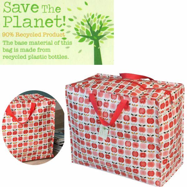 XXL Jumbo Bag Apfel Rot Weiß Recycled Allzwecktasche Einkaufstasche