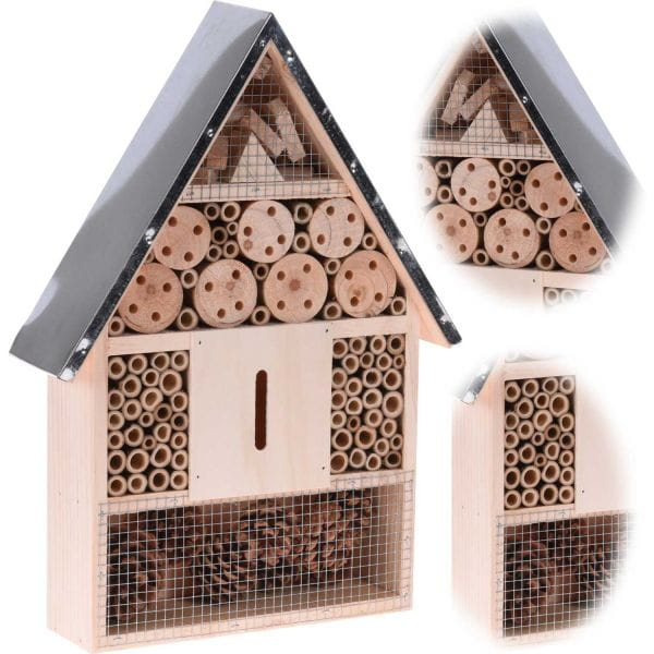 XL Insektenhaus Insektenhotel Holz 40cm Brutkasten Nistkasten Bienen