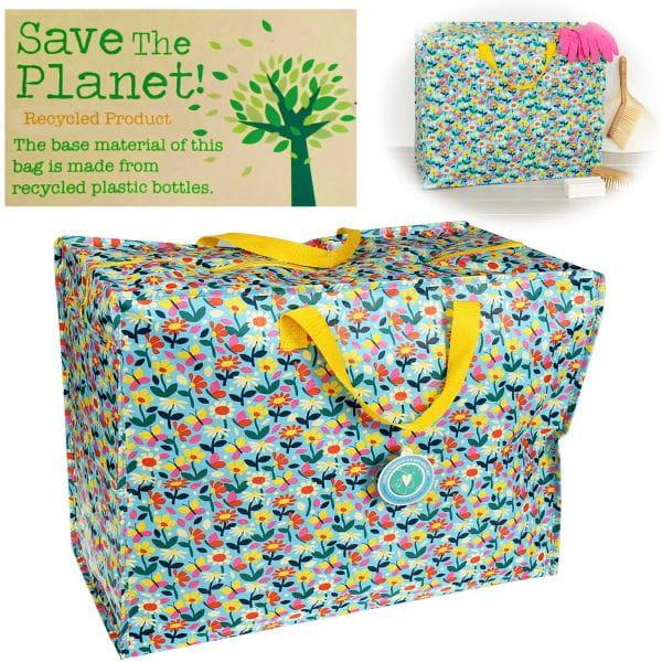 XXL Jumbo Bag Blumen 55cm Allzweck-Tasche Recycled Einkaufstasche