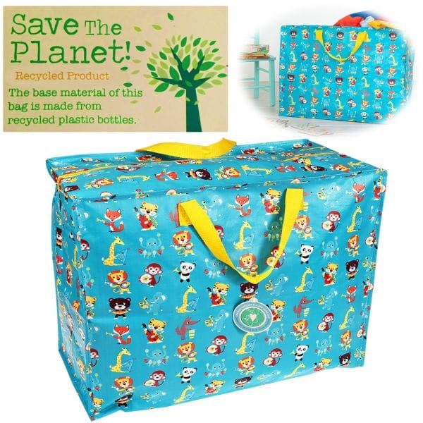 XXL Jumbo Bag Tiere 55cm Allzweck-Tasche Recycled Einkaufstasche