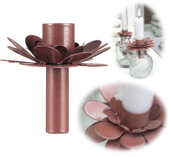 Vintage Kerzenhalter Stabkerzen Aufsatz Rose Vasen Flaschen Kerzenständer