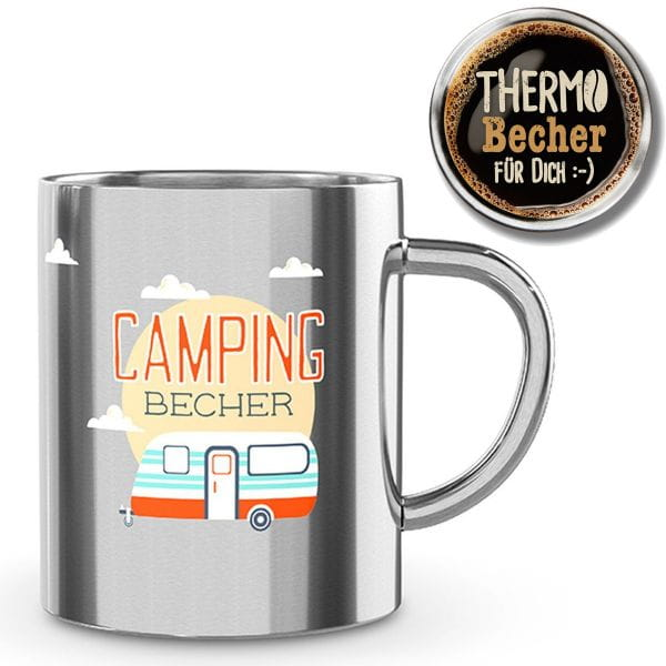 Edelstahl Thermobecher Camping-Becher 250ml Kaffeebecher Thermotasse