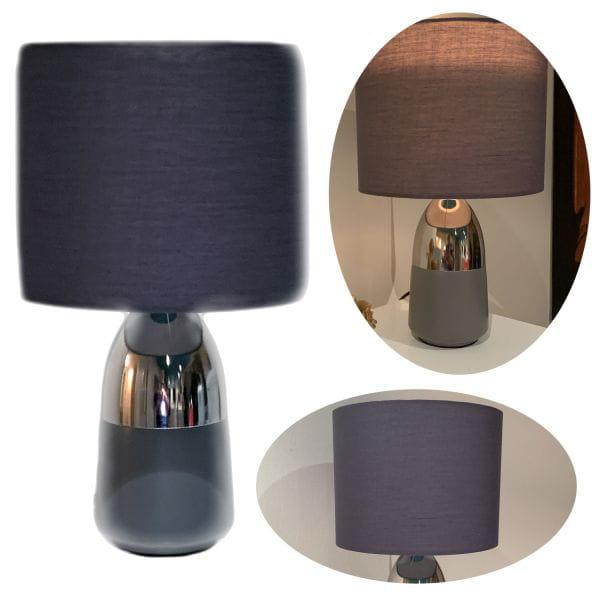 Tisch-Leuchte Touch Tisch-Lampe Silber Kugel Schreibtisch-Lampe Büro